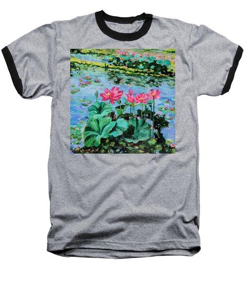 Lotus Baseball T-Shirt by Alexandra Maria Ethlyn Cheshire