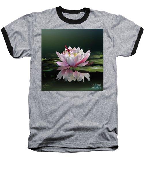 Lotus Meditation Baseball T-Shirt