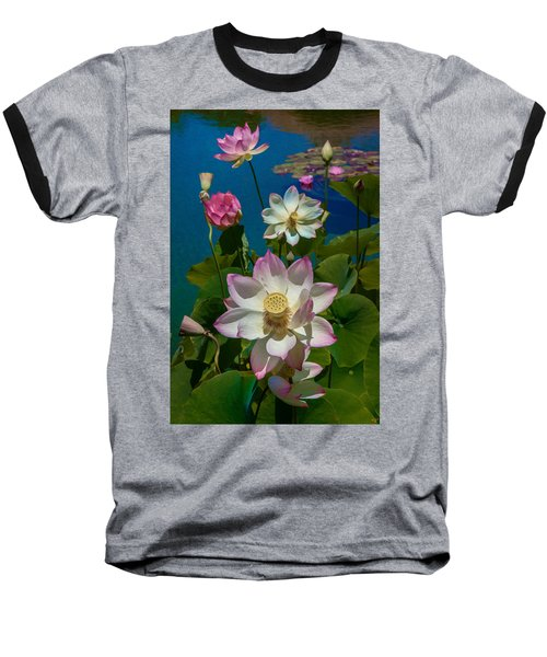 Lotus Pool Baseball T-Shirt