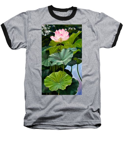 Lotus Rising Baseball T-Shirt by John Lautermilch