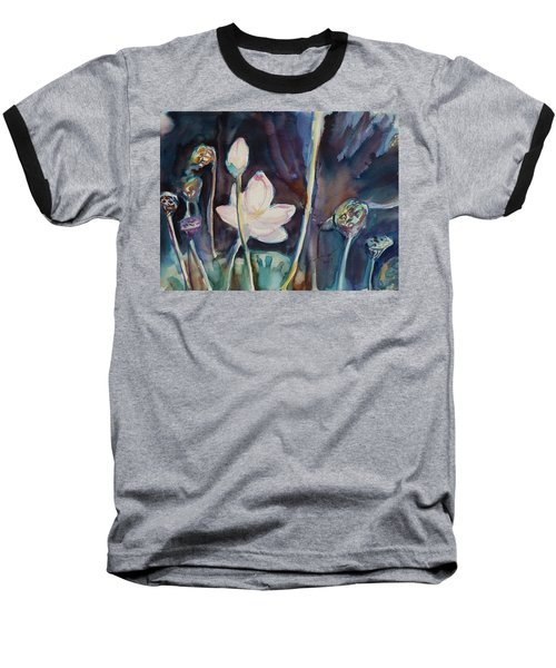 Baseball T-Shirt featuring the painting Lotus Study II by Xueling Zou