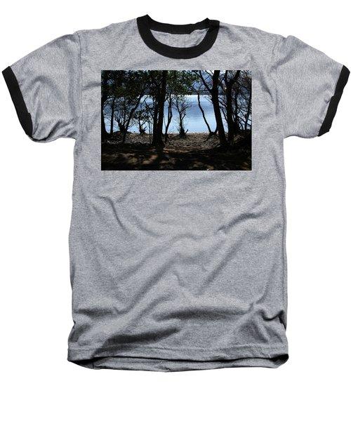 Lough Leane Through The Woods Baseball T-Shirt by Aidan Moran