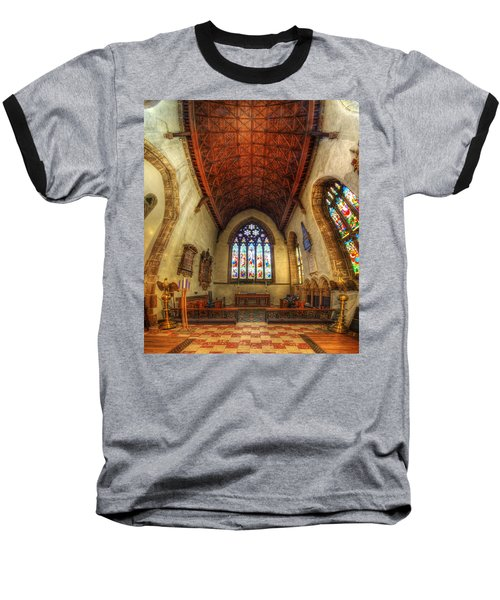 Loughborough Church - Altar Vertorama Baseball T-Shirt