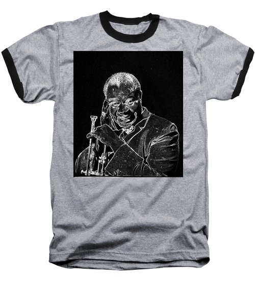 Louis Armstrong Baseball T-Shirt by Charles Shoup