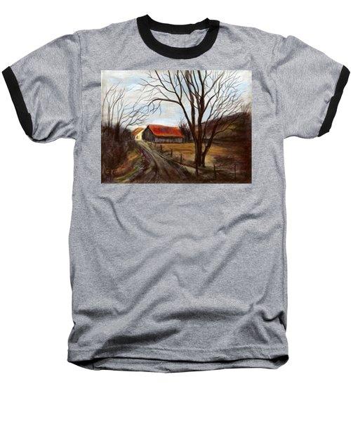 Baseball T-Shirt featuring the painting Louisa Kentucky Barn by Gail Kirtz