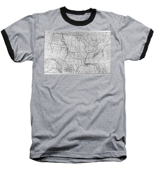 Louisiana Purchase Map Baseball T-Shirt