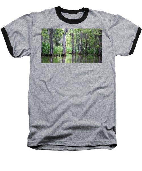 Louisiana Swamp 5 Baseball T-Shirt by Inspirational Photo Creations Audrey Woods