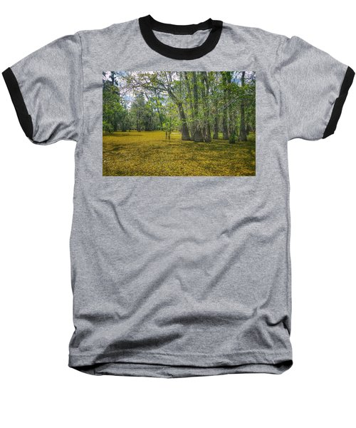 Louisiana Swamp In Gold Baseball T-Shirt