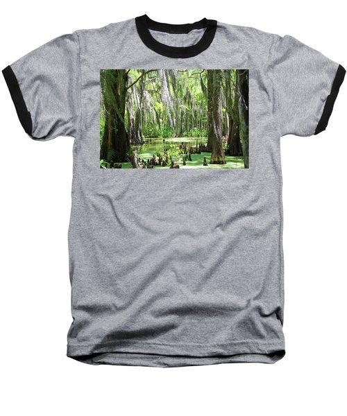 Louisiana Swamp Baseball T-Shirt by Inspirational Photo Creations Audrey Woods