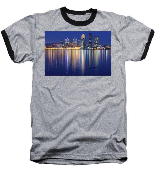 Louisville During Blue Hour Baseball T-Shirt