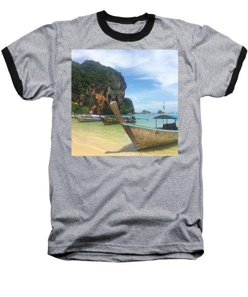 Lounging Longboats Baseball T-Shirt
