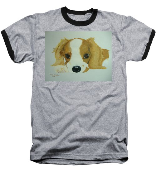 Baseball T-Shirt featuring the painting Lovable Puppy by Norm Starks