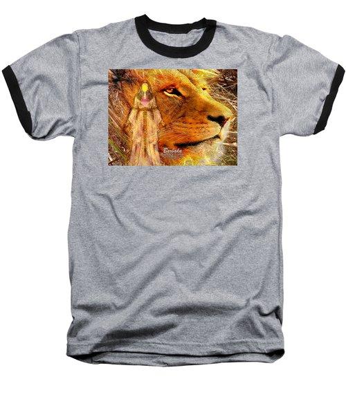 Baseball T-Shirt featuring the digital art Love 444 Cecil by Barbara Tristan