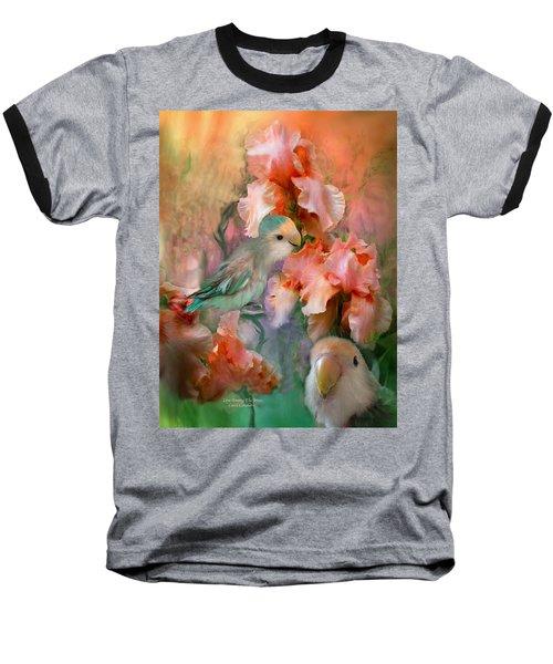 Love Among The Irises Baseball T-Shirt