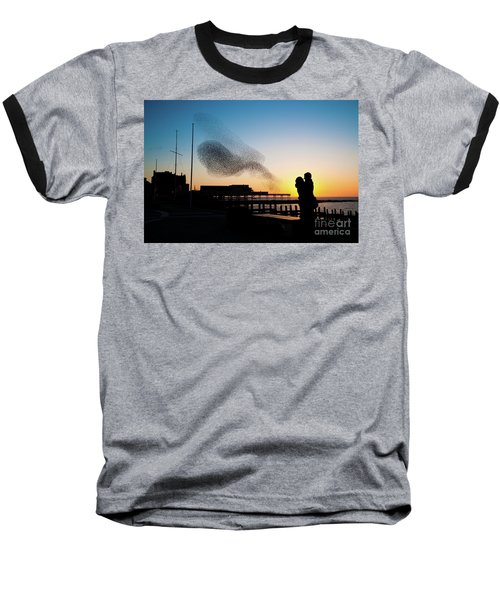 Love Birds At Sunset Baseball T-Shirt