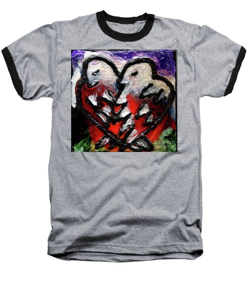 Baseball T-Shirt featuring the painting Love Birds by Genevieve Esson