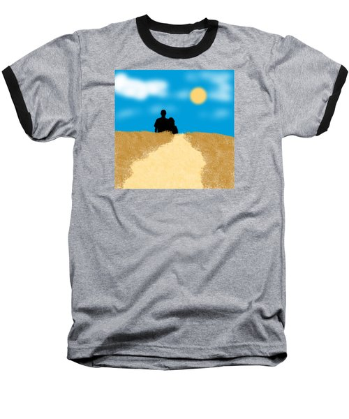 Love Birds Baseball T-Shirt by Karen Nicholson