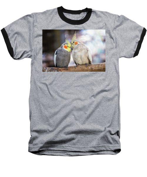 Love Birds Baseball T-Shirt by Stephanie Hayes