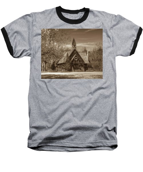 Love Chapel In Sepia Baseball T-Shirt