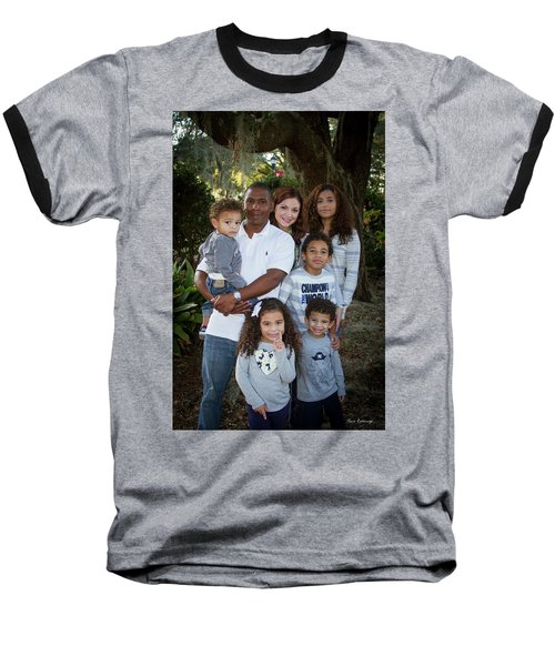 Baseball T-Shirt featuring the photograph Love Demonstrated James Ingram Family Art by Reid Callaway