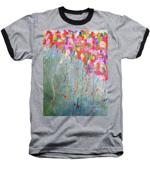 Love Flower Mountain Baseball T-Shirt