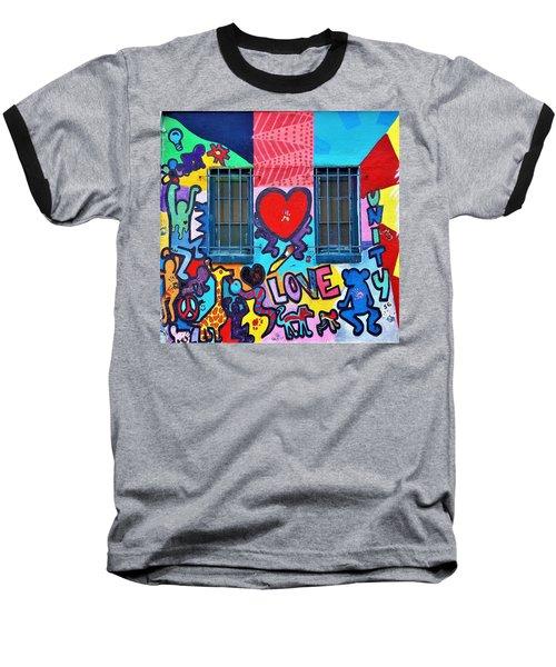 Love Haring  Baseball T-Shirt