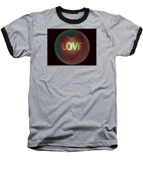 Love Heart Inside A Bakelite Round Package Baseball T-Shirt by Ernst Dittmar