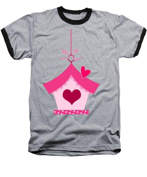 Love House T-shirt Baseball T-Shirt by Herb Strobino
