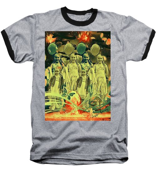 Love In The Age Of War Baseball T-Shirt by Vennie Kocsis