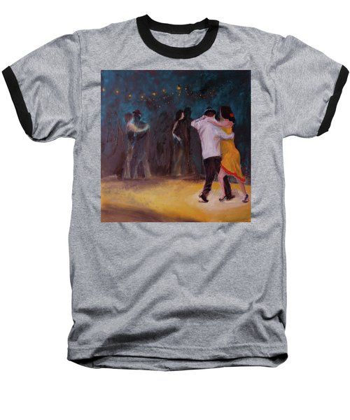 Baseball T-Shirt featuring the painting Love In The Spotlight by Keith Thue
