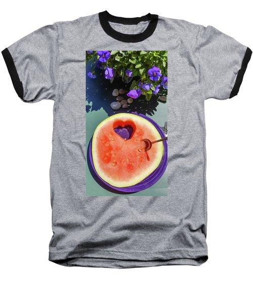 Love In Watermelon Baseball T-Shirt
