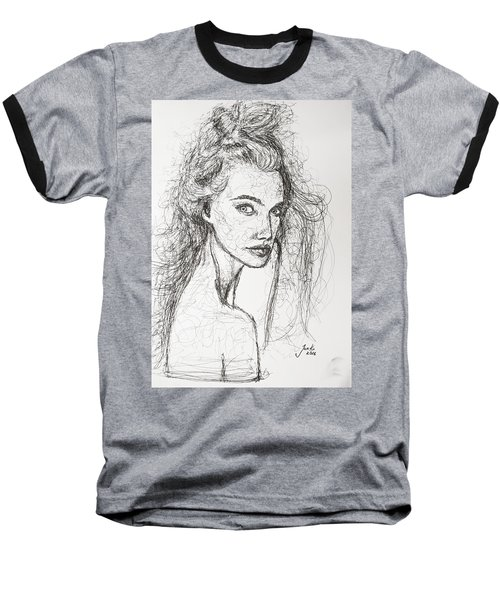 Baseball T-Shirt featuring the drawing Love Is A Many-splendored Thing by Jarko Aka Lui Grande