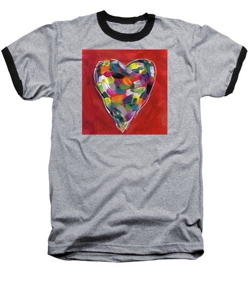 Love Is Colorful - Art By Linda Woods Baseball T-Shirt