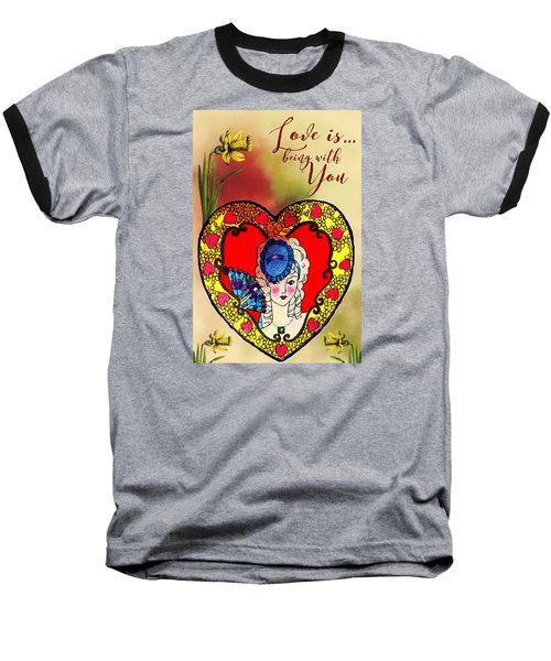 Love Is Baseball T-Shirt by Diana Boyd
