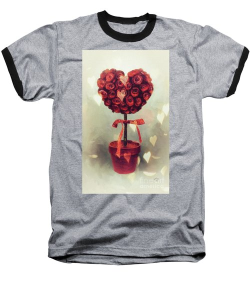 Baseball T-Shirt featuring the digital art Love Is In The Air by Lois Bryan