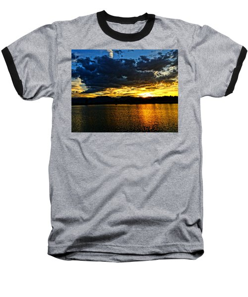 Love Lake Baseball T-Shirt by Eric Dee