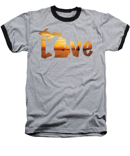 Love Lake Michigan Baseball T-Shirt