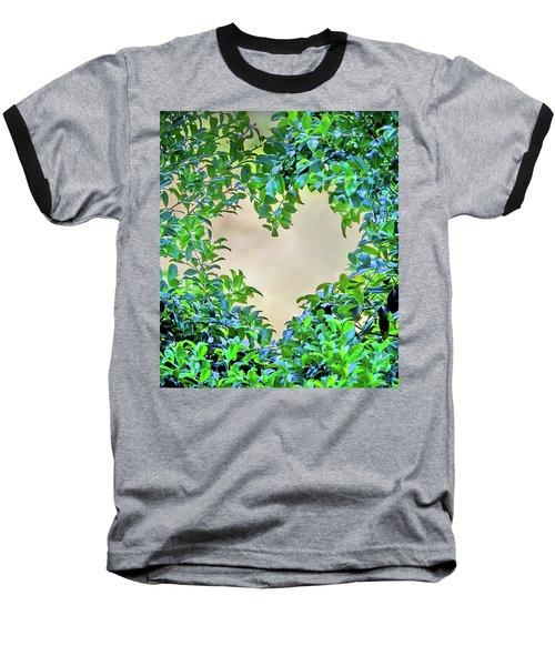 Baseball T-Shirt featuring the photograph Love Leaves by Az Jackson