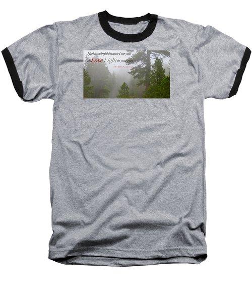 Love Light Baseball T-Shirt by David Norman