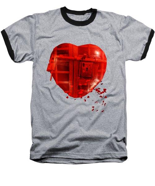 Love Locked Baseball T-Shirt by Linda Lees