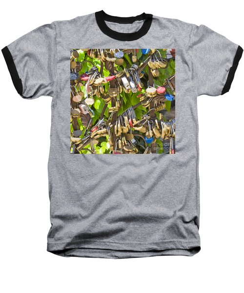 Baseball T-Shirt featuring the photograph Love Locks Square by Chris Dutton