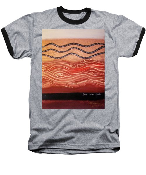Baseball T-Shirt featuring the painting Love Never Fails by Winsome Gunning