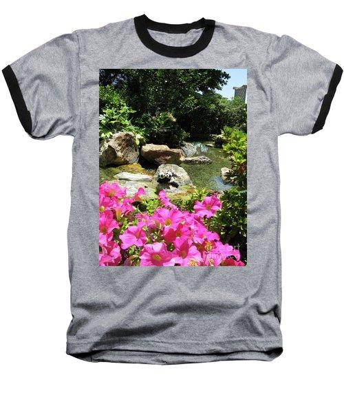 Baseball T-Shirt featuring the photograph Love On The Rocks- Los Angeles- Pandas by Ausra Huntington nee Paulauskaite