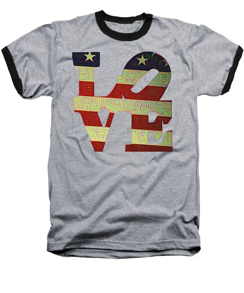 Baseball T-Shirt featuring the painting Love The Usa by Bill Cannon