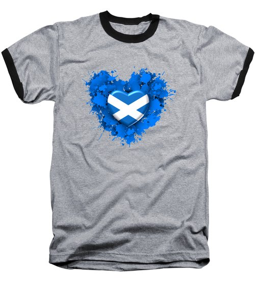 Love To Scotland. 1 Baseball T-Shirt