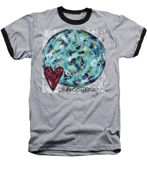 Love Wins Baseball T-Shirt by Kirsten Reed
