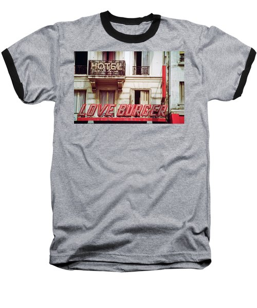 Baseball T-Shirt featuring the photograph Loveburger Hotel by Frank DiMarco