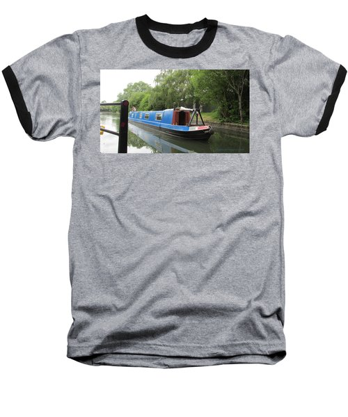 Loved-up On A Canal Boat - Park Royal Baseball T-Shirt by Mudiama Kammoh