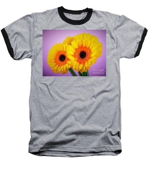 Lovely And Beautiful - Gerbera Daisies Baseball T-Shirt by Ray Shrewsberry