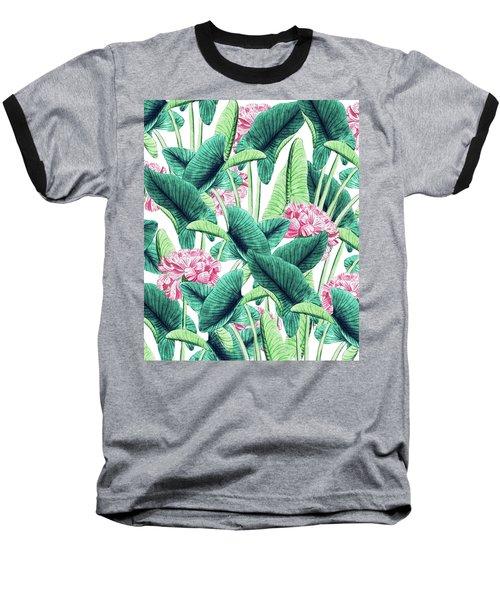 Lovely Botanical Baseball T-Shirt by Uma Gokhale